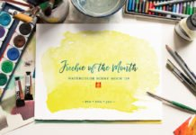 Free Watercolor Scene Mockup