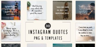 30 Free Instagram Quotes Templates