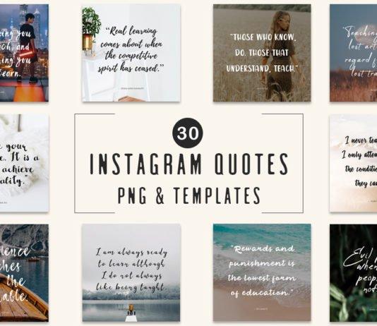 30 Free Instagram Quotes Templates