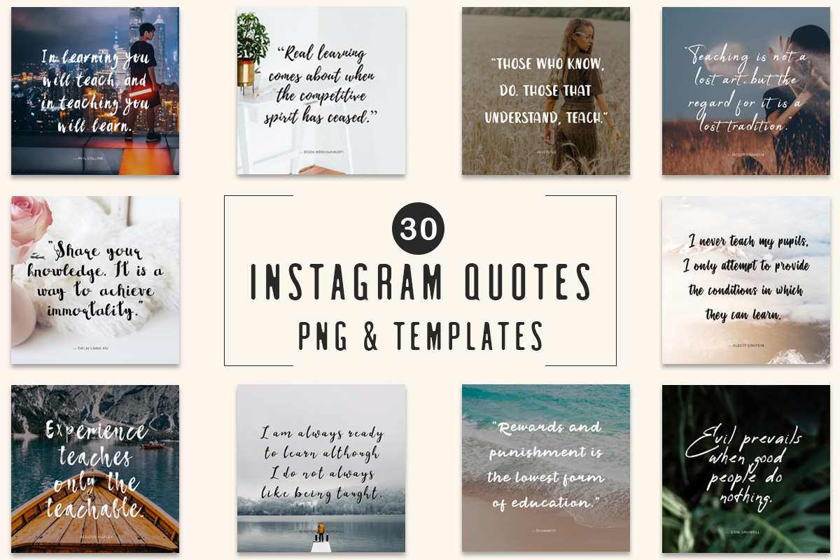 30 Free Instagram Quotes Templates Creativetacos