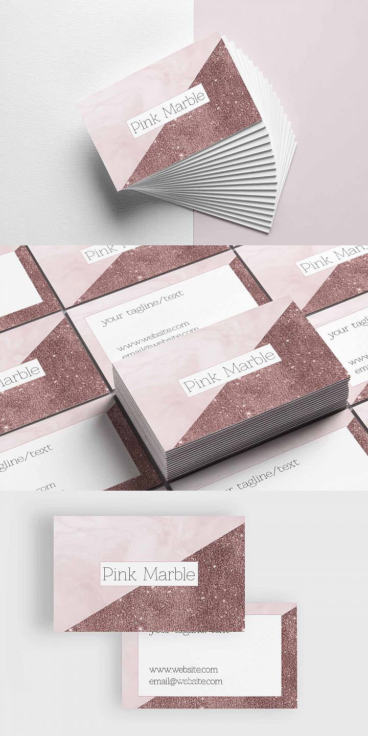 Pink marble and glitter business card template creativetacos pink marble and glitter business card template is a stylish design and it will be cheaphphosting Images