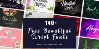 140+ Free Beautiful Script Fonts For Designers in 2018
