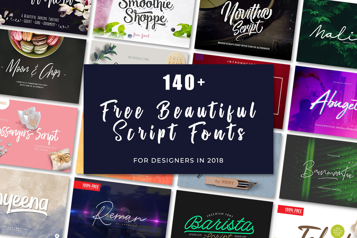 150+ Free Beautiful Script Fonts For Designers in 2019 - Creativetacos
