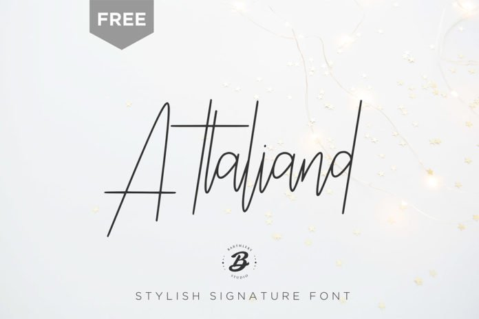 Free Attaliand Signature Font