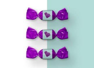 Free Bonbon Candy Mockup