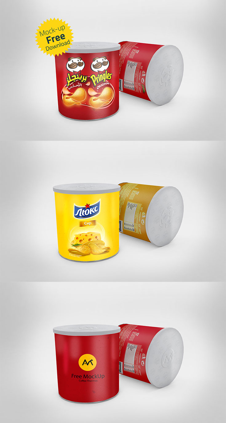 Free #Chips #Can #Mockupis a realistic PSD mockup that will allow you to present a logo or typography in a natural way. Just drag and drop your design inside the mockup smart object and change the background if needed. Thisis perfect for branding and identity projects.