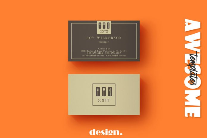 Free Coffee Business Card Template