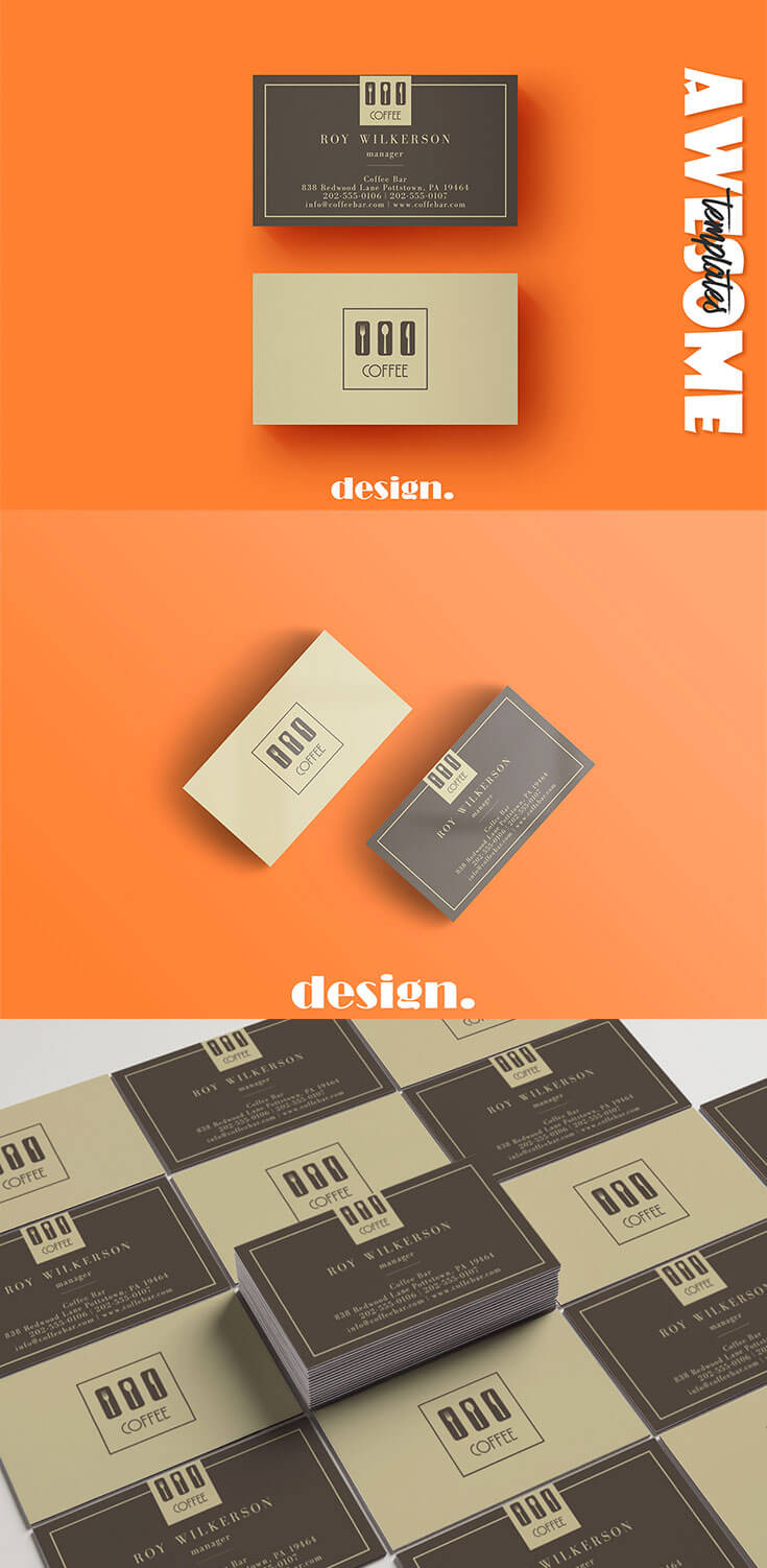 Free #Coffee #Business Card #Template is a clean business card template that is ideal for creative and business people and personal identify. It is fully editable template, very easy to use and customize in Adobe Photoshop, Illustrator.