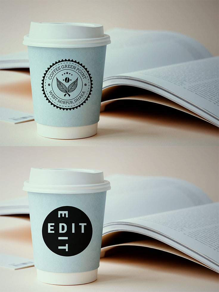 Free #Coffee #Cup #Mockup a clean, modern design was created by Asm Arif.This mockup offers you 5000 × 3337 px image size.It is available in PSD format with built-in smart object. You can change the background color and image to fit your need. It can be great to showcase your logo design, icons, and illustration.