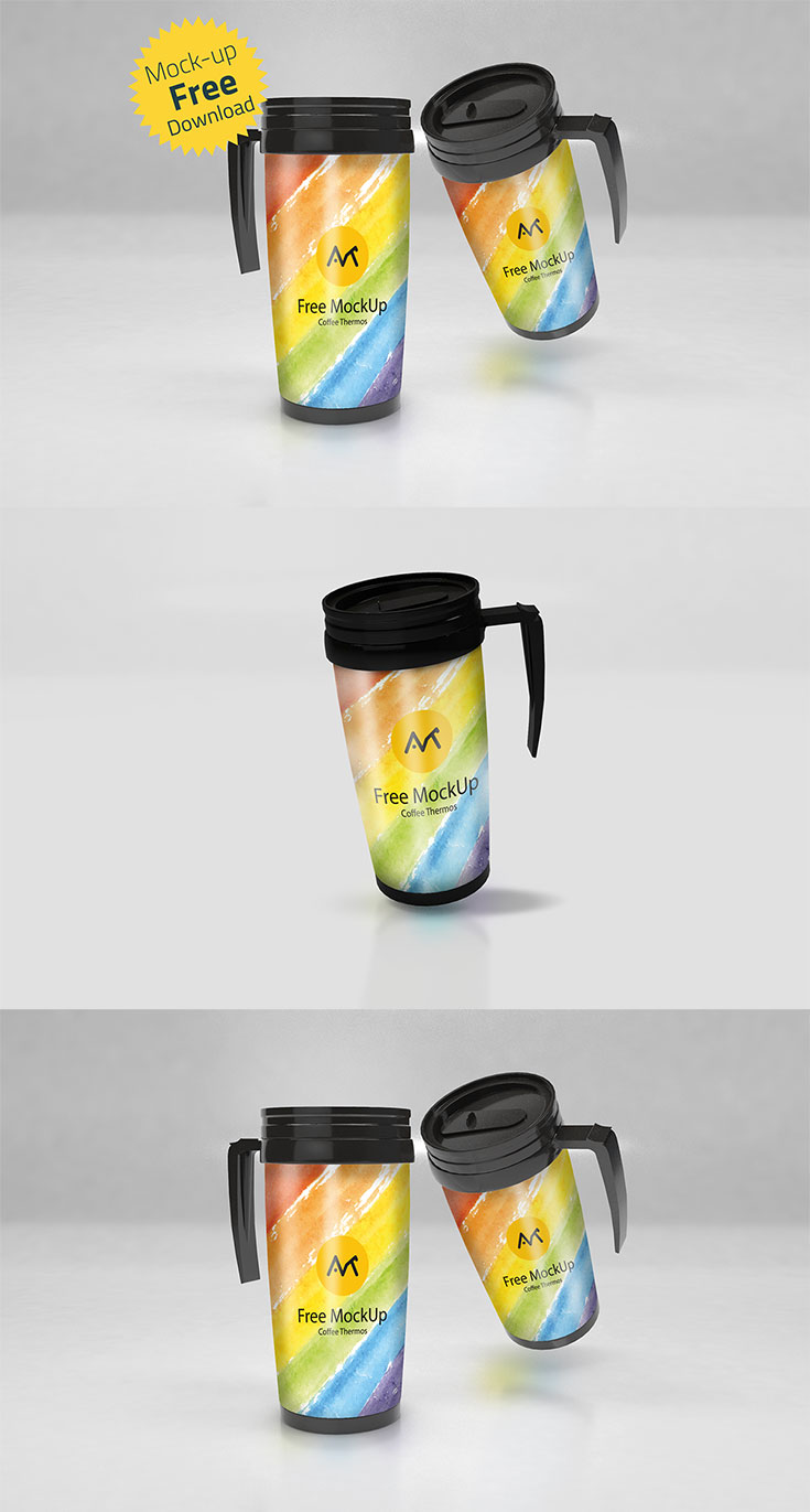 Free Coffee Thermos Mockupis a realistic PSD Coffee Thermos mockup that will allow you to present a logo or typography in a natural way. Just drag and drop your design inside the mockup smart object and change the background if needed. It is perfect for branding and identity projects.