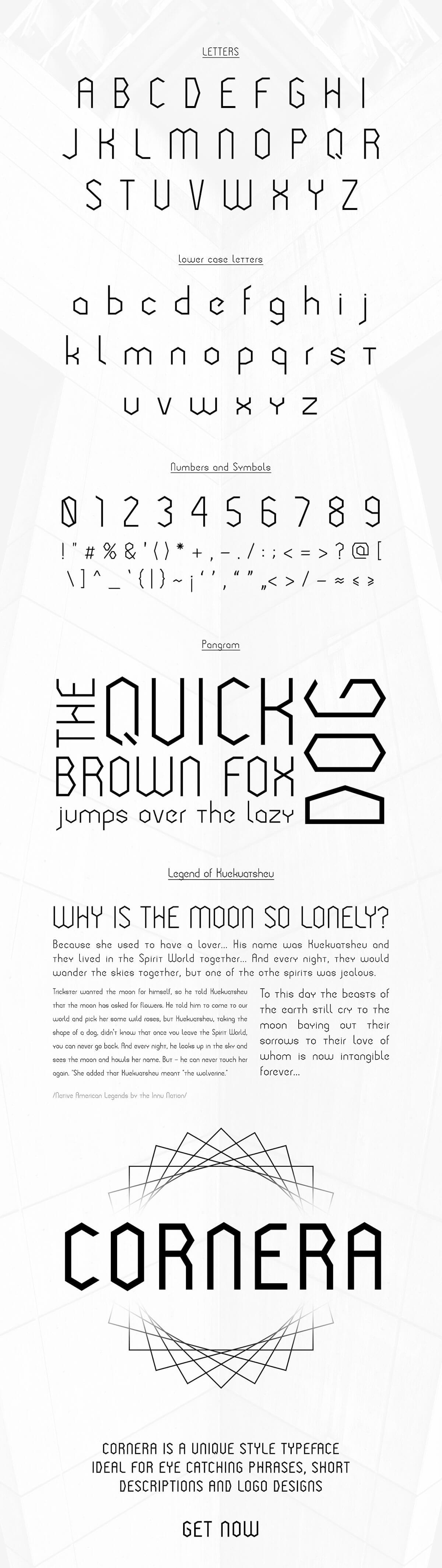 Free Cornera Display Font
