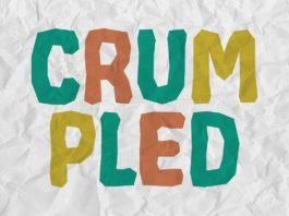 Free Crumpled Decorative Font