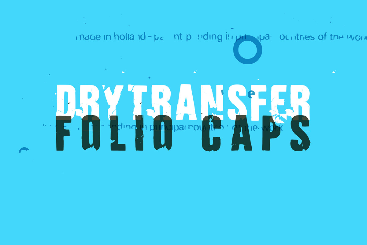 Free DryTransfer Folio Caps Sans Serif Font