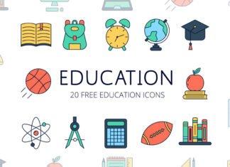 Free Education Vector Icon Set