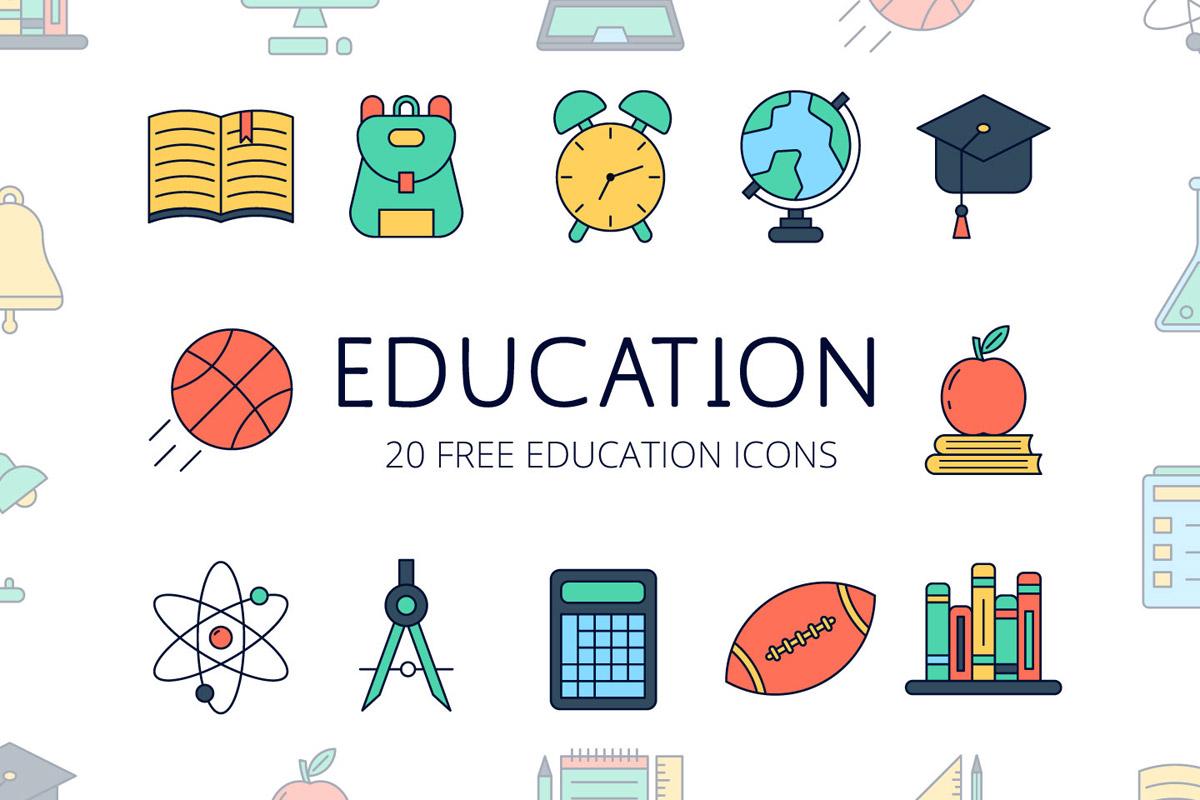 Free Education Vector Icon Set ~ Creativetacos