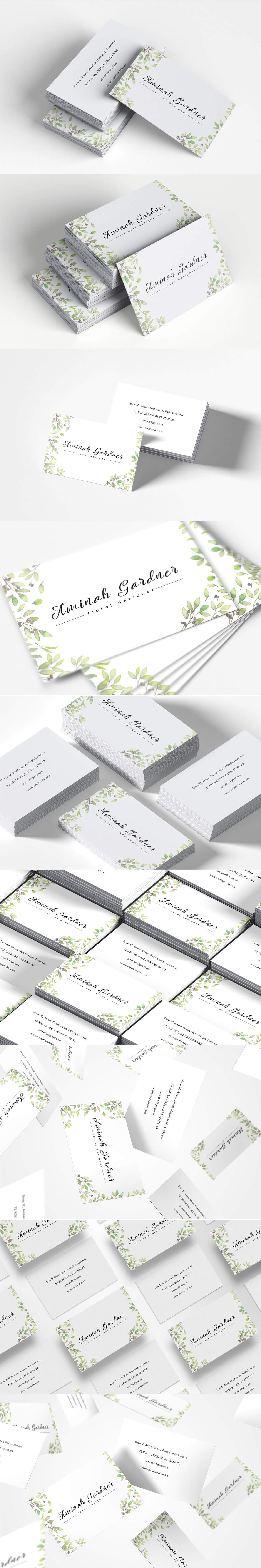 Free Floral Designer Business Card Template