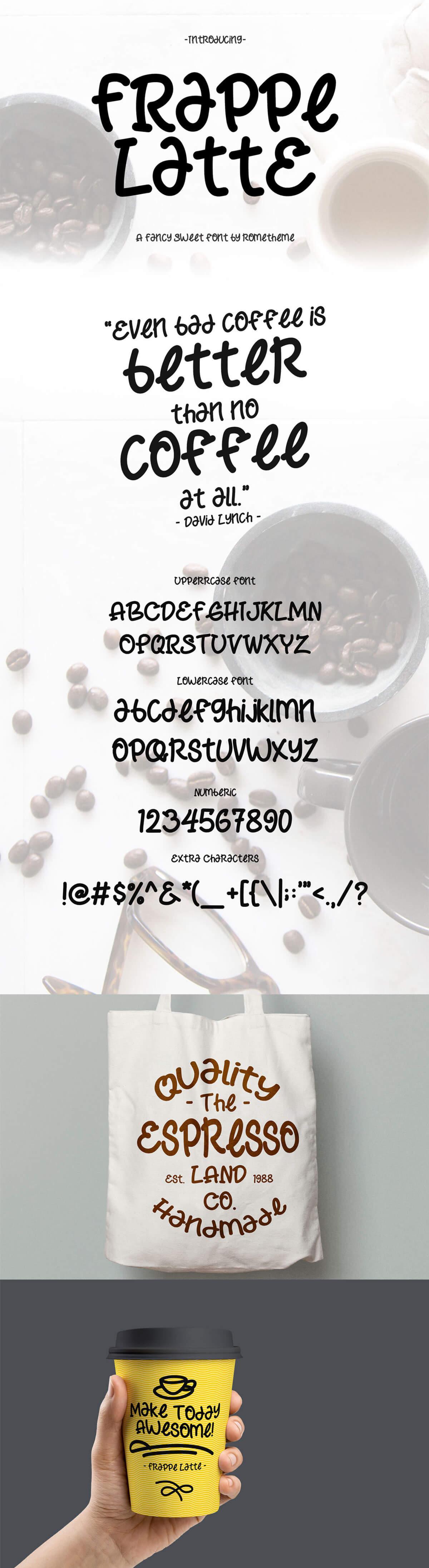 Free Frappe Latte Sweet Fancy Font