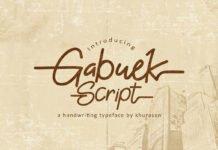 Free Gabuek Script Font