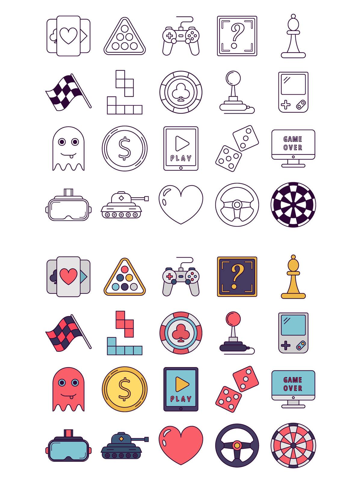 Free Game Vector Icon Set