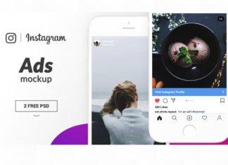 Free Instagram Ads Mockup