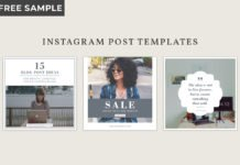 Free Instagram Post Templates