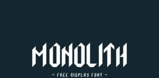 Free Monolith Geometric Display Font