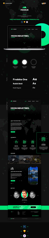 Free Moonin Landing Page Template