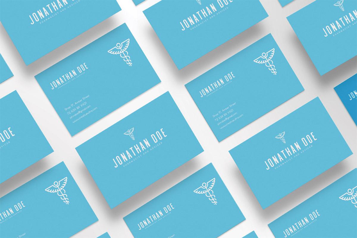 Free Pharmacist Minimal Business Card Template