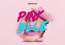 Free Pink Blue Brush Font
