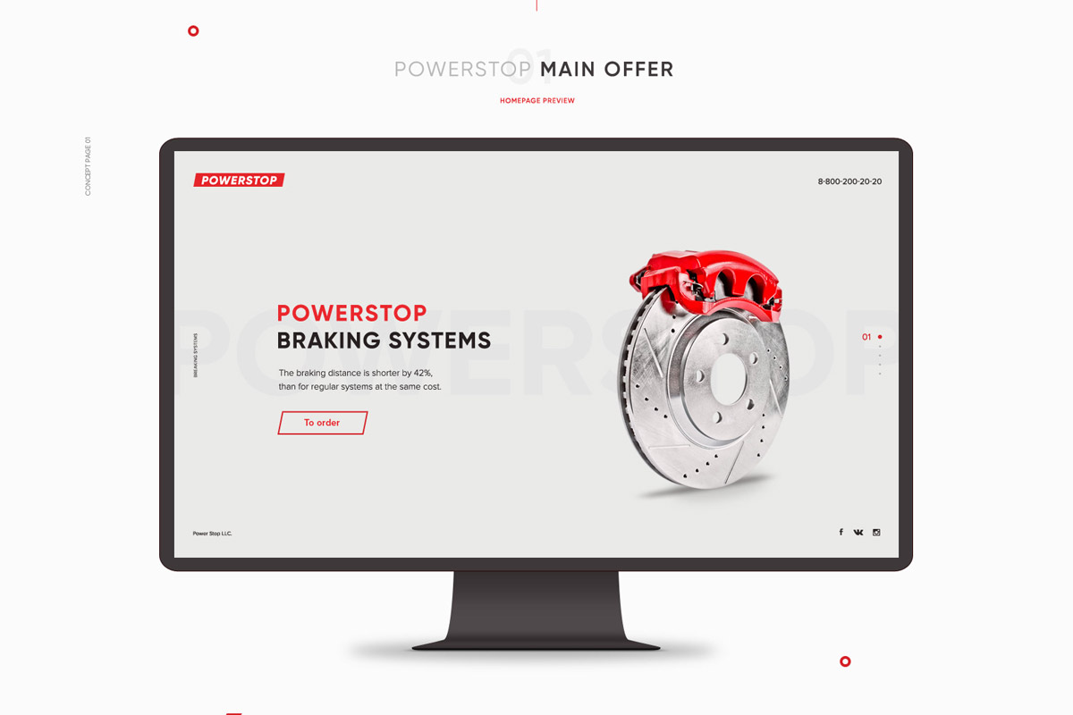 Free PowerStop Concept Site Template