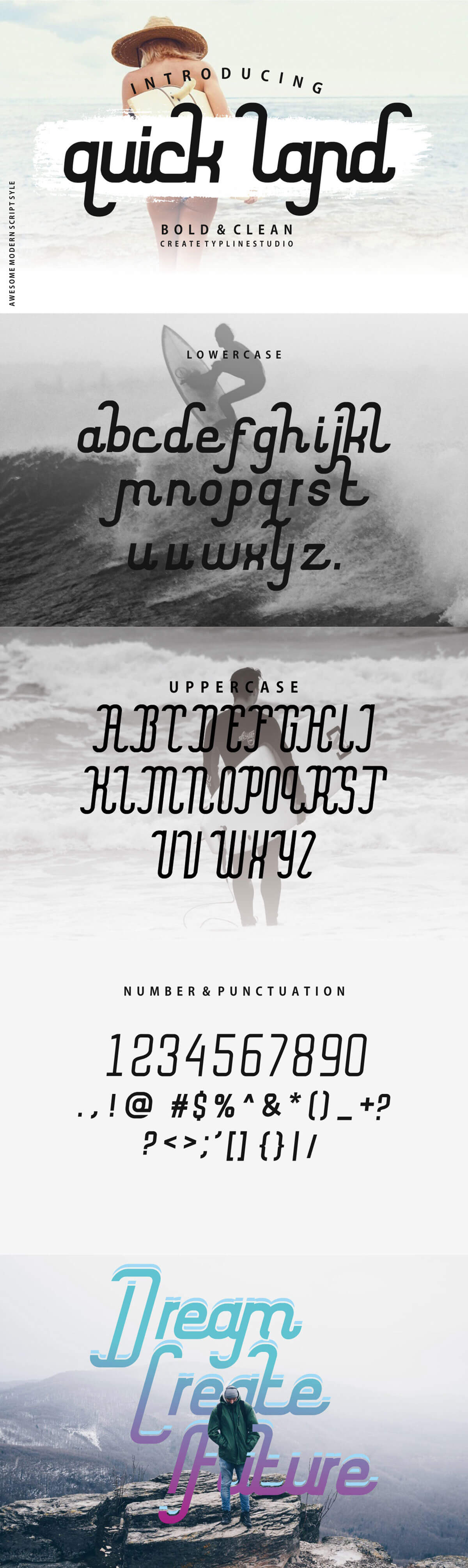 Free Quick Land Modern Script Font