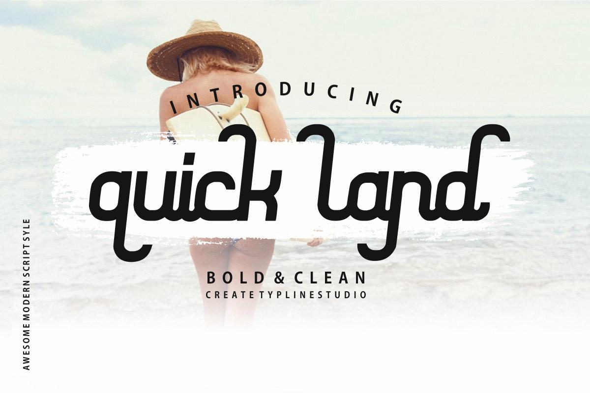 Free Quick Land Script Font