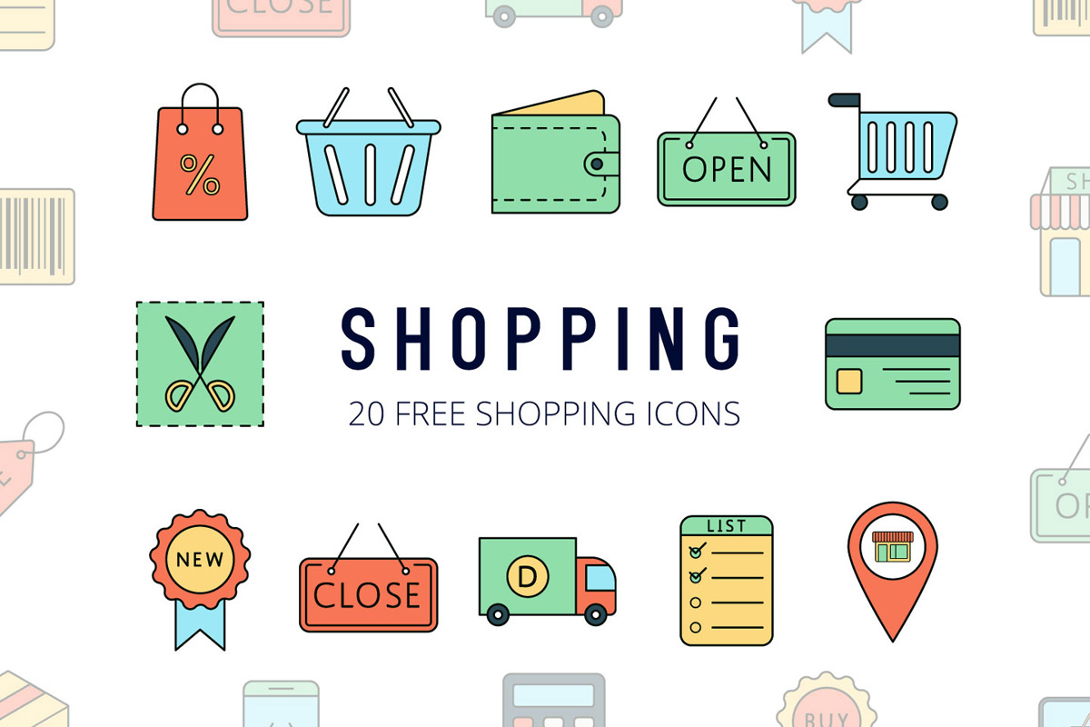 Free Shopping Vector Icon Set - Creativetacos