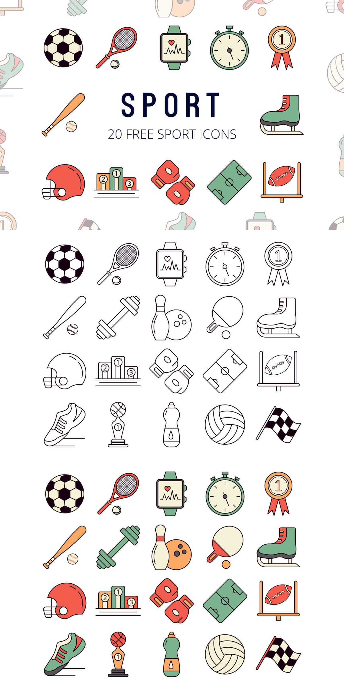 Free Sport Vector Icon Set