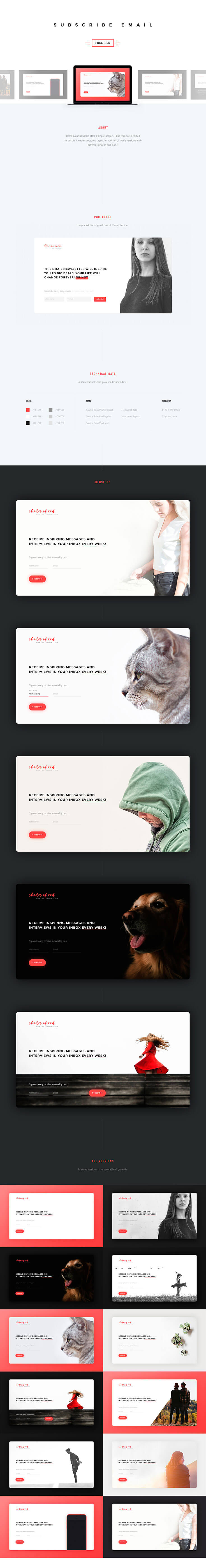 Free Subscribe #Email #Page #Templateis aclean and stylish template simple email page template designed and released by Misha Kazancev.It comes in PSD format file.It comes with a nice overall design and color scheme with fully editable to fit to your personal needs.