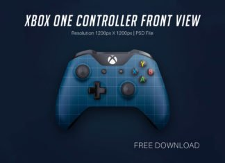 Free Xbox One Front View Mockup