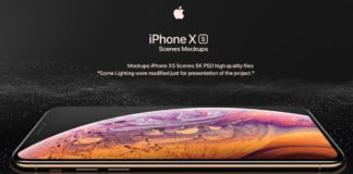 Free iPhone XS PSD Mockup Pack