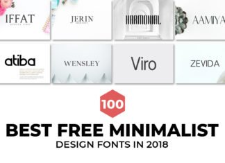100 Best Free Minimalist Design Fonts in 2018
