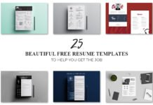 25 Beautiful Free Resume Templates to Help You Get the Job in 2018