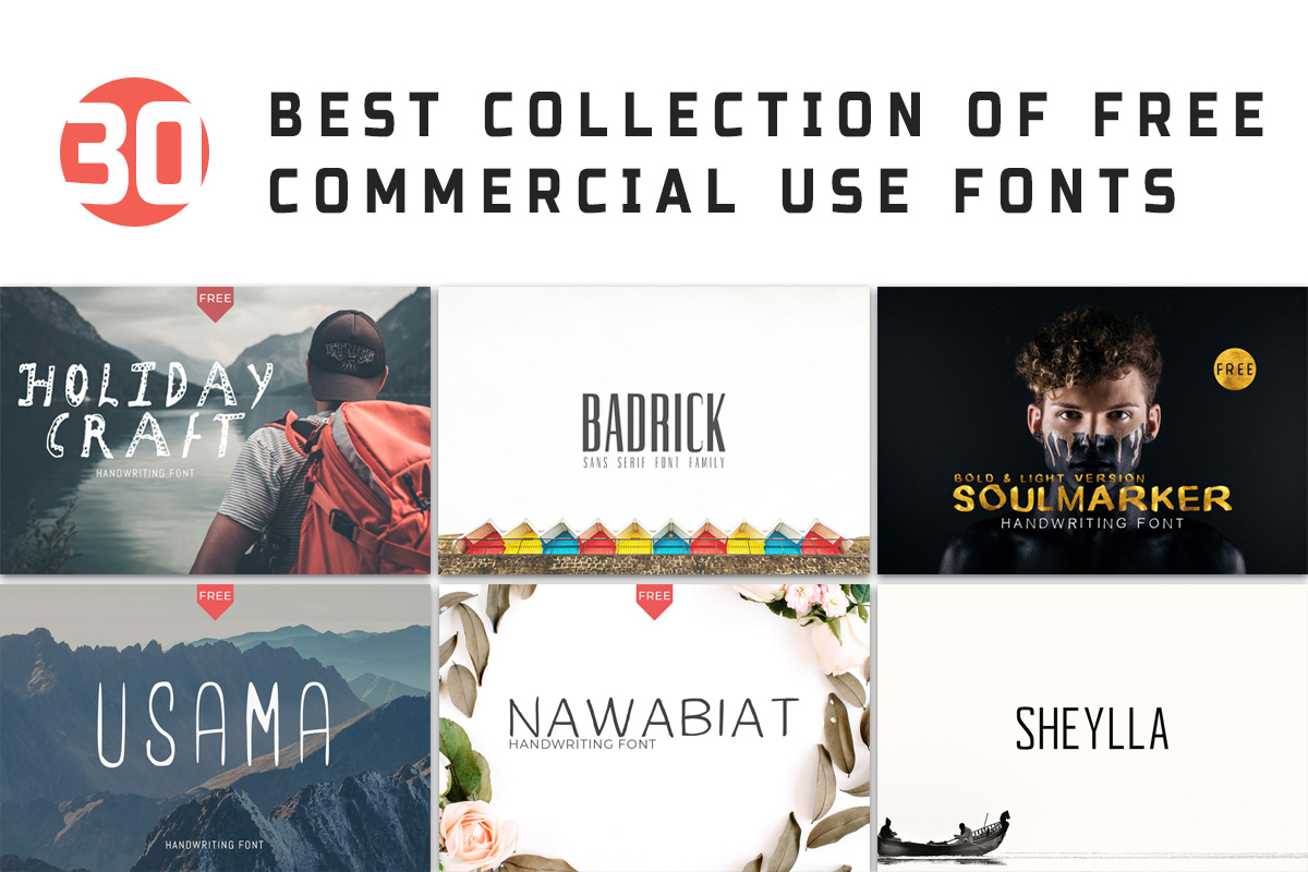 30 Free Best Commercial Use Fonts For 2018 - Creativetacos
