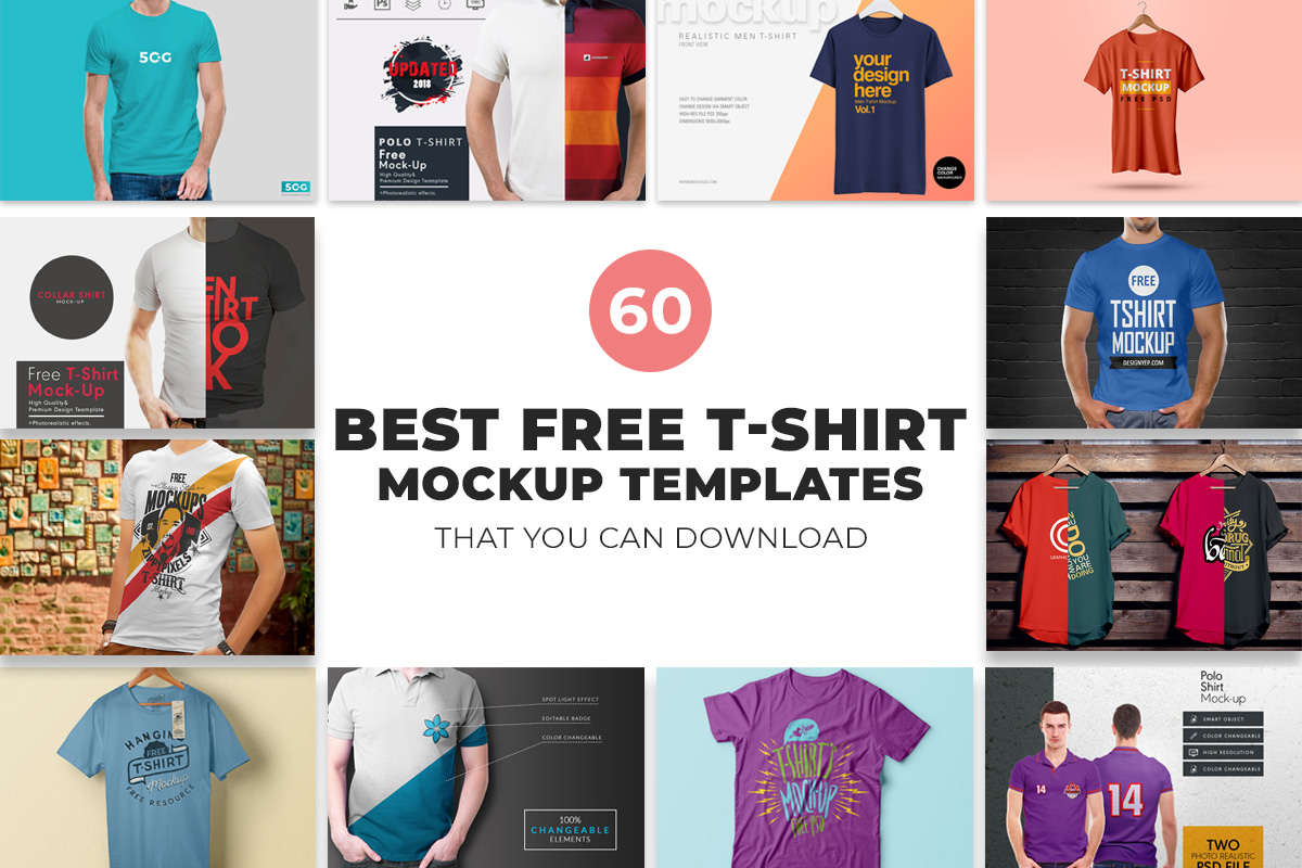 d26e0dc3 60 Best Free T-Shirt Mockup Templates That You Can Download ...