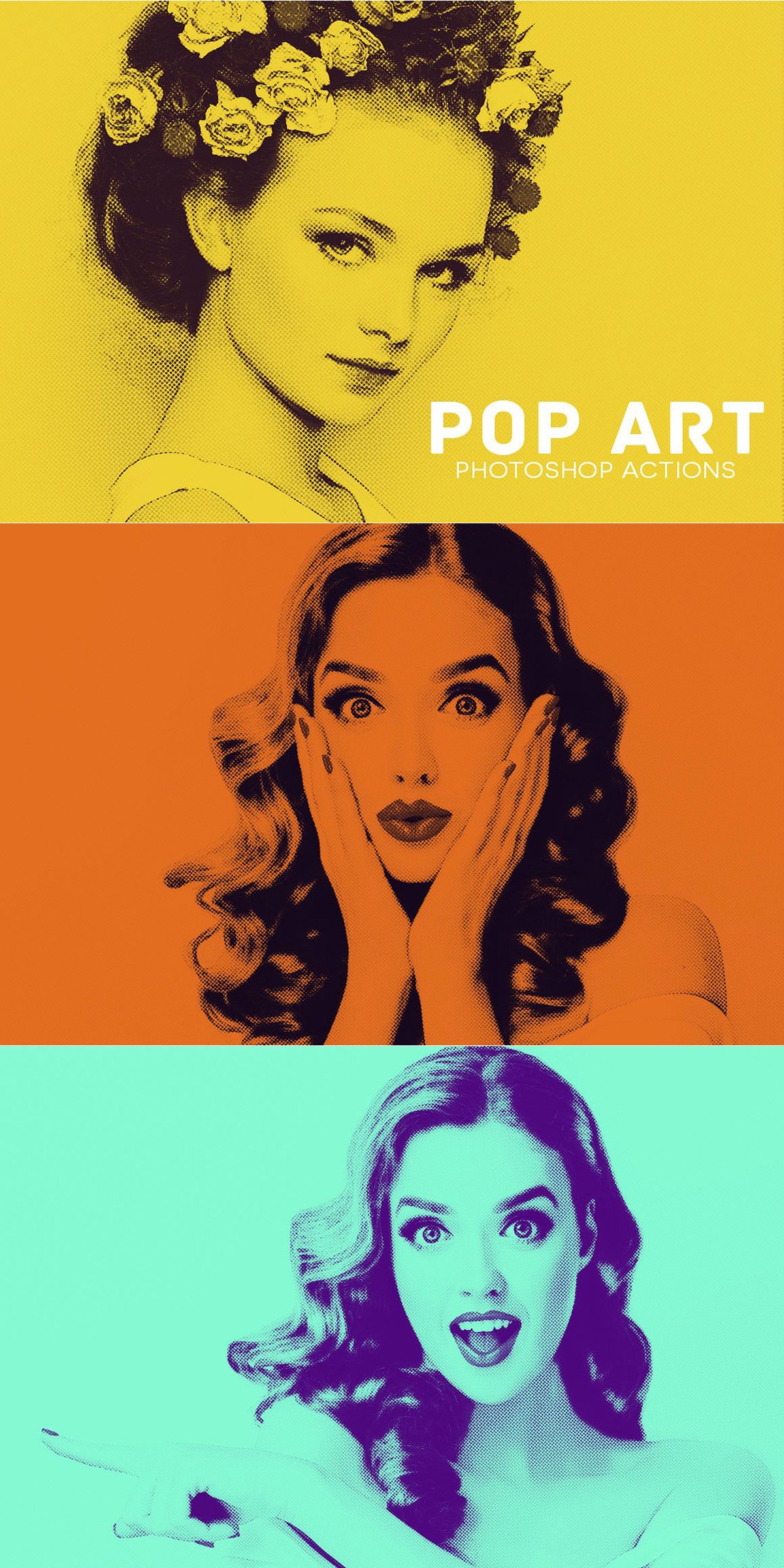 20 pop art photoshop actions