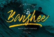 Free Banshee Brush Script Font
