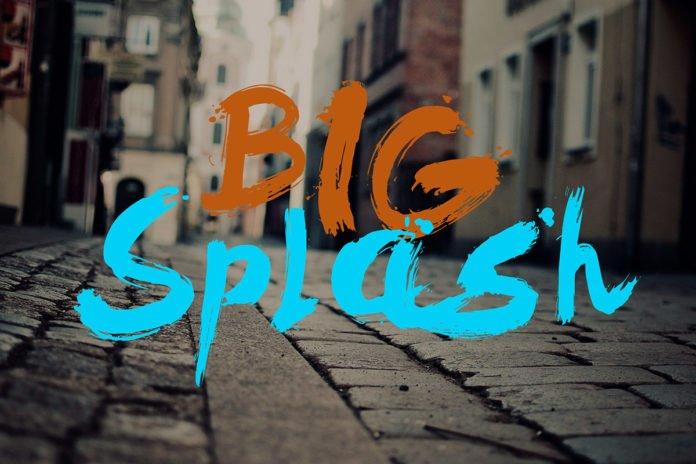 Free Big Splash Brush Font