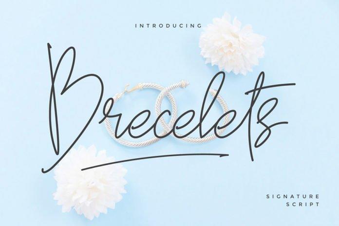 Free Brecelets Signature Font