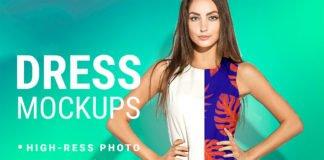 Free Dress Mockup Demo PSD