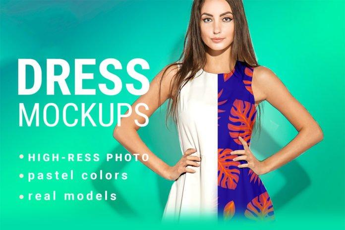 Free Dress Mockup Demo PSD - Creativetacos