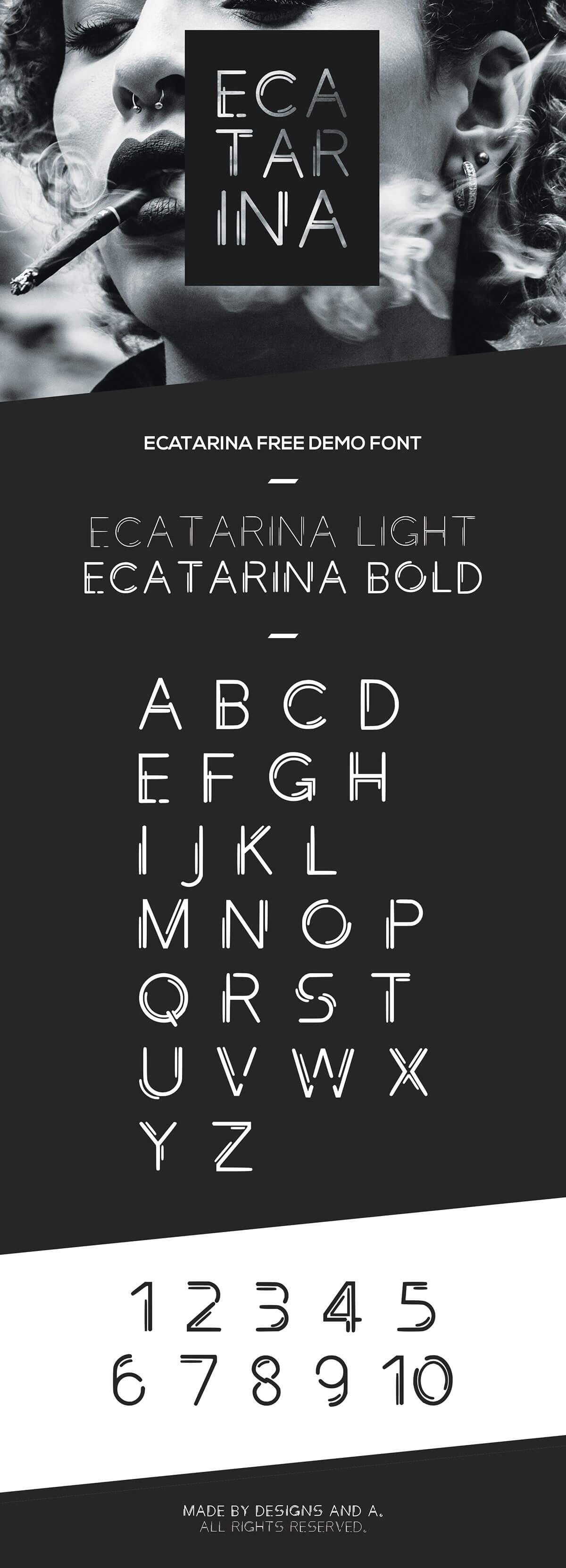 Free Ecatarina Geometric Font