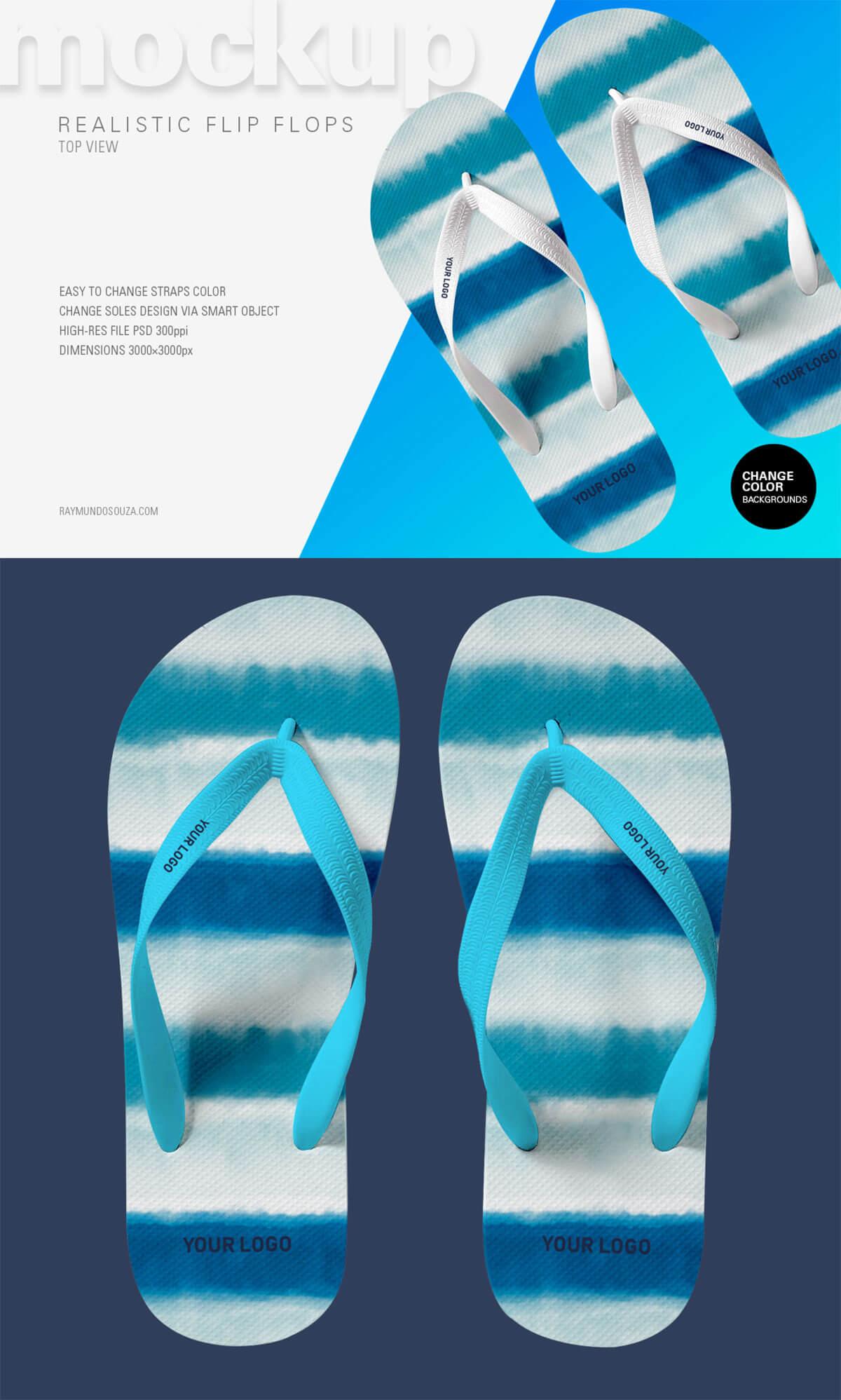 Free Flip Flop Realistic PSD Mockup