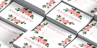 Free Floral Designer Business Card PSD Template